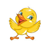Happy Easter! Little chicken. Royalty Free Stock Image