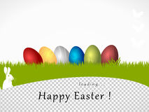 Happy Easter loading Royalty Free Stock Image