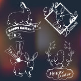 Happy easter logo Stock Photography
