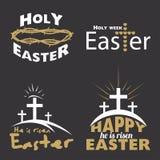 Happy Easter logo Stock Photos