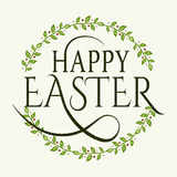 Happy Easter logotype, badge, icon, logo template, flyer, greetings card Stock Photo