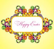 Happy Easter lollipop frame Stock Photography