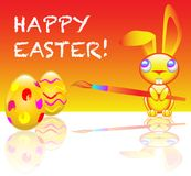 Happy easter message Royalty Free Stock Photography