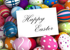 Happy Easter Message Stock Photography