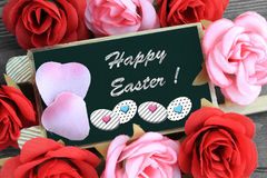 Happy easter message Stock Photo