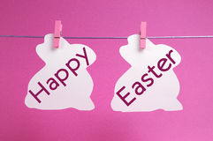 Happy Easter message in pink Royalty Free Stock Image