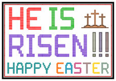 Happy Easter. Message on vintage LCD screen. Isolated on white vector illustration