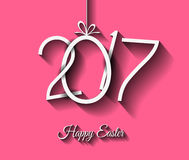 Happy 2017 Easter modern and elegant background with a Golden egg Stock Images