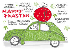 Happy Easter multilingual Royalty Free Stock Photos