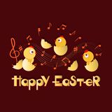HAPPY EASTER. Musical congratulations. royalty free illustration