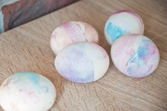 Happy easter. natural dye. Egg hunt. Traditional food cooking. Painted eggs. DIY and handmade. Easter egg. Marble shell. Spring stock images