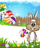 Happy Easter nature background Royalty Free Stock Photos
