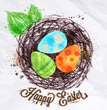 Happy easter nest Stock Image