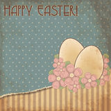 Happy Easter old greeting card, vector Royalty Free Stock Photos