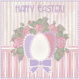 Happy Easter old vintage card Stock Image