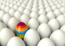 Happy Easter. One hand-painted egg Stock Photography