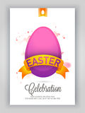 Happy Easter Pamphlet, Banner or Flyer design. Royalty Free Stock Photo