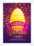 Happy Easter Pamphlet, Banner or Flyer design. Stock Images