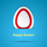 Happy easter paper sticker. Royalty Free Stock Photo
