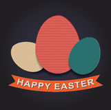 Happy Easter Paper Texture Background Stock Images