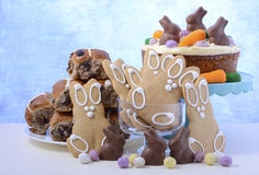 Happy Easter Party Food Royalty Free Stock Photography
