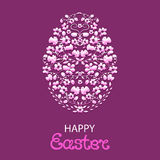 Happy Easter. Paschal egg from flowers and herbs Stock Photography