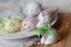 Happy easter pastel eastereggs bunny Royalty Free Stock Photo