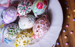 Happy easter pastel eastereggs Royalty Free Stock Image