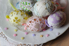 Happy easter pastel eastereggs Royalty Free Stock Images