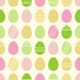 Happy Easter pattern with eggs. Royalty Free Stock Photos