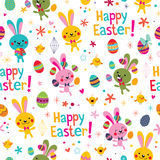 Happy Easter pattern Royalty Free Stock Images