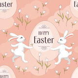 Happy easter pattern Stock Photos