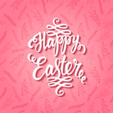 Happy easter pink card Stock Image