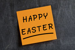 Happy Easter Post-it Blackboard Royalty Free Stock Image