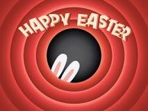 Happy Easter postcard background. Vintage retro Stock Photos