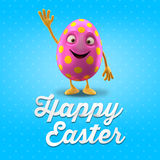 Happy Easter postcard, greeting card, merry easter congratulation Royalty Free Stock Image