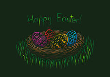 Happy Easter postcard Stock Images