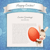 Happy Easter Poster With Banny Royalty Free Stock Image