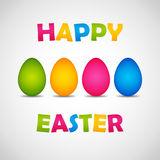 Happy Easter poster Royalty Free Stock Photo