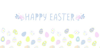 Happy easter poster. Seamless pattern, Vector illustration. Wallpaper, flyers, brochure,voucher. Stock Photography