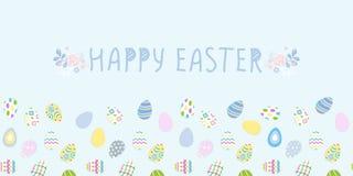 Happy easter poster. Seamless pattern, Vector illustration. Wallpaper, flyers, brochure,voucher. Stock Image