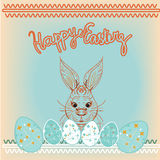 Happy Easter rABBIT Background. FOR POSTCARD, BANNER Stock Photography