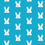 Happy Easter Rabbit Bunny Blue Seamless Background Royalty Free Stock Image