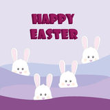 Happy Easter Rabbit Bunny. On color background Royalty Free Stock Photography