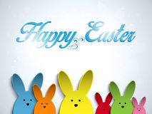 Happy Easter Rabbit Bunny  Colors Royalty Free Stock Image
