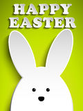 Happy Easter Rabbit Bunny on Green Background Royalty Free Stock Images