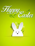 Happy Easter Rabbit Bunny on Green Background Royalty Free Stock Photo