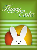 Happy Easter Rabbit Bunny on Green Background Royalty Free Stock Image