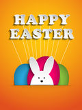 Happy Easter Rabbit Bunny on Orange Background Royalty Free Stock Photo
