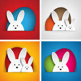 Happy Easter Rabbit Bunny on Orange Background Stock Image